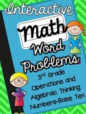 3rd Grade Interactive Math Notebook-Word Problems {OA and NBT}