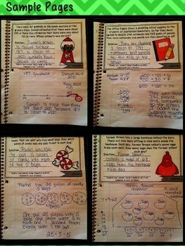 3rd Grade Interactive Math Notebook-Word Problems {OA and NBT}