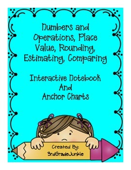 3rd Grade Interactive Notebook Numbers and Operations - Anchor Charts