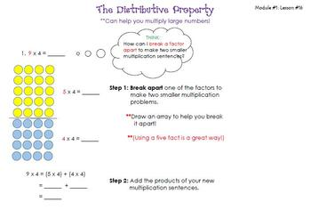 3rd Grade-Interactive Notebook-Properties of Multiplication and Division #'s 2-4