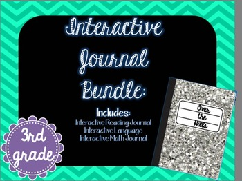 3rd Grade Interactive Notebooks/Journals Bundle {Reading, Language, Math}