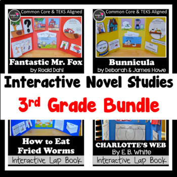3rd Grade Interactive Novel Studies BUNDLE