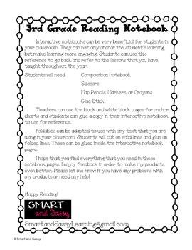 3rd Grade Interactive Reading Notebook TEKS Aligned