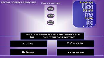 2nd Grade Interactive Trivia Game End of Year ~ Promethean ~ Math, ELA, Science