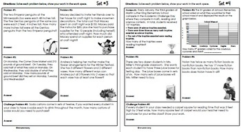 3rd Grade January Problem Solving: Daily Multi-Step (Two-Step) Math Problems