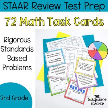 3rd Grade Jenga Math Game - STAAR Review Test Prep Rigorous Task Cards