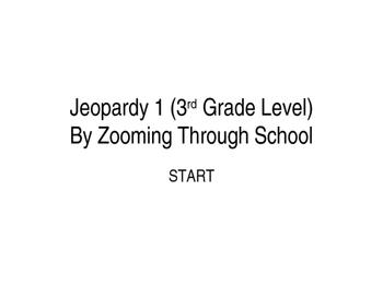 3rd Grade Jeoparday