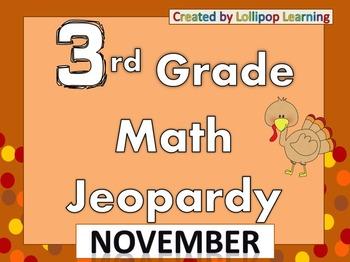 3rd Grade Jeopardy (November)