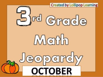 3rd Grade Jeopardy (October)