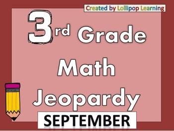3rd Grade Jeopardy (September)