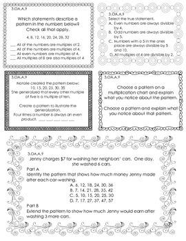 3rd Grade Journal Entries- OA & MD