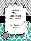 3rd Grade Journey's Unit 4 Word Search and ABC Order