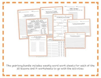 3rd Grade Journeys 2014 Spelling Vocabulary Center Activity Sample of Bundle