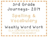 3rd Grade Journeys 2014 Spelling Vocabulary Center Activity Yearlong Bundle