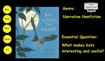 3rd Grade Journeys 2017 SMARTboard Bat Loves the Night
