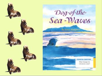3rd Grade Journeys 2017 SMARTboard Dog of the Sea Waves