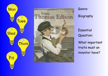 3rd Grade Journeys 2017 SMARTboard Young Thomas Edison