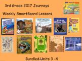 3rd Grade Journeys 2017 Unit 3 and 4 SmartBoard Lessons Bundle