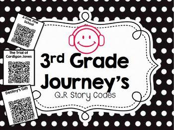 3rd Grade Journeys Audio Q.R. Story Codes