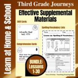 3rd Grade Journeys - BUNDLE: Lessons 1-30 - Effective Supplemental Materials
