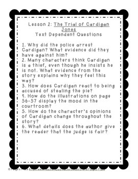 3rd Grade Journey's Culminating Writing Tasks & Text Dependent Questions Unit 1