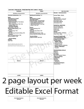 3rd Third Grade CCSS Journeys LA Unit 1 Common Core 5 Week Lesson Plans Editable