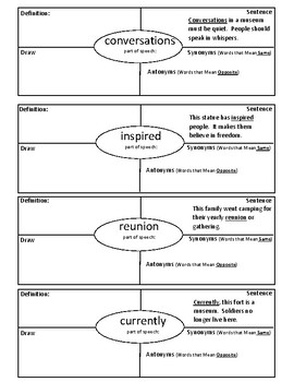 3rd Grade Journeys Lesson 23 Vocabulary 4 Square The Journey of Oliver K Woodman