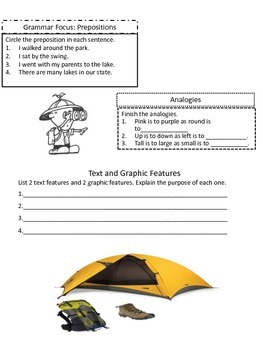 3rd Grade Journeys Lesson 25 Review Sheet