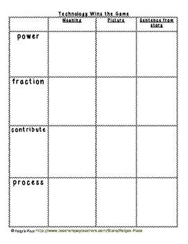 3rd Grade Journeys Reading Series Vocabulary Activities Unit 3