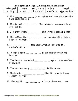 3rd Grade Journeys Reading Series Vocabulary Activities Unit 6
