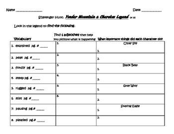 3rd Grade Journeys Scavenger Hunts Unit 3 and 4 - Texts 11 through 20