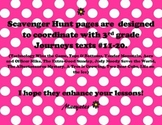 3rd Grade Journeys Scavenger Hunts Unit 3 and 4 - Texts 11