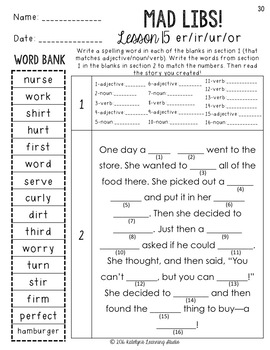 3rd Grade Journeys Spelling Worksheets