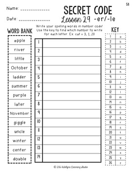 3rd Grade Journeys Spelling Worksheets