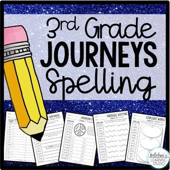 NO PREP 3rd Grade Journeys Spelling Activity Worksheets