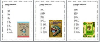 3rd Grade Journeys Spelling Lists Lessons 1-30