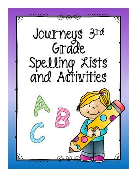 3rd Grade Journeys Spelling Lists and Activities