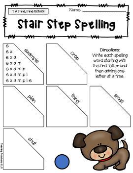 3rd Grade Journeys Spelling - Stair Step Spelling LESSONS 1-30