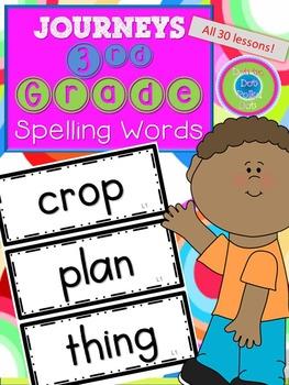 3rd Grade Journeys Spelling Words- All 30 Lessons!