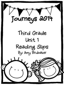 3rd Grade Journeys Unit 1 Reading Slips
