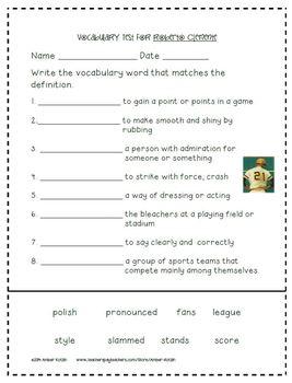 3rd Grade Journeys: Unit 1 Supplemental Activities © 2011 and 2014