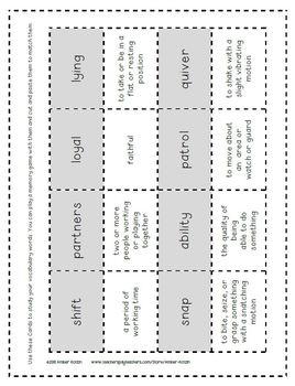 3rd Grade Journeys: Unit 3 Mini Pack Supplemental Activities © 2014