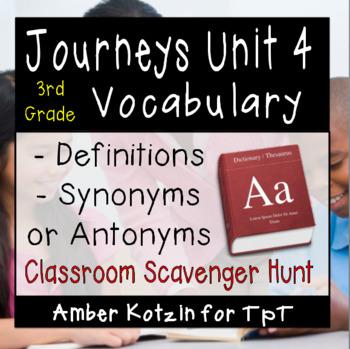 3rd Grade Journeys: Unit 4 Vocabulary Scavenger Hunt ©  2014