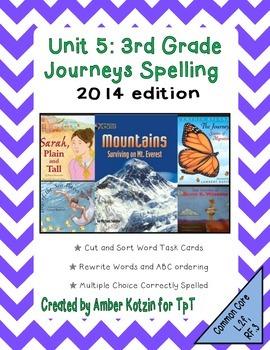 3rd Grade Journeys: Unit 5 Spelling Bundle