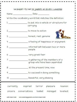 3rd Grade Journeys: Unit 5 Supplemental Activities © 2014