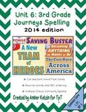 3rd Grade Journeys: Unit 6 Spelling Bundle