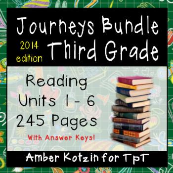 3rd Grade Journeys Bundle: Units 1 - 6 Supplemental Activities ©2014