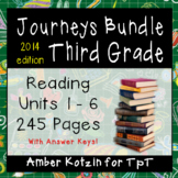 ALL YEAR 3rd Grade Journeys Mini Pack Bundle: Supplemental Activities ©2014