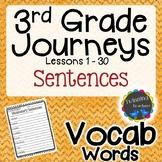3rd Grade Journeys Vocabulary - Sentences LESSONS 1-30