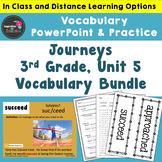 3rd Grade Journeys Vocabulary Slide Shows, Unit 5 - Distan